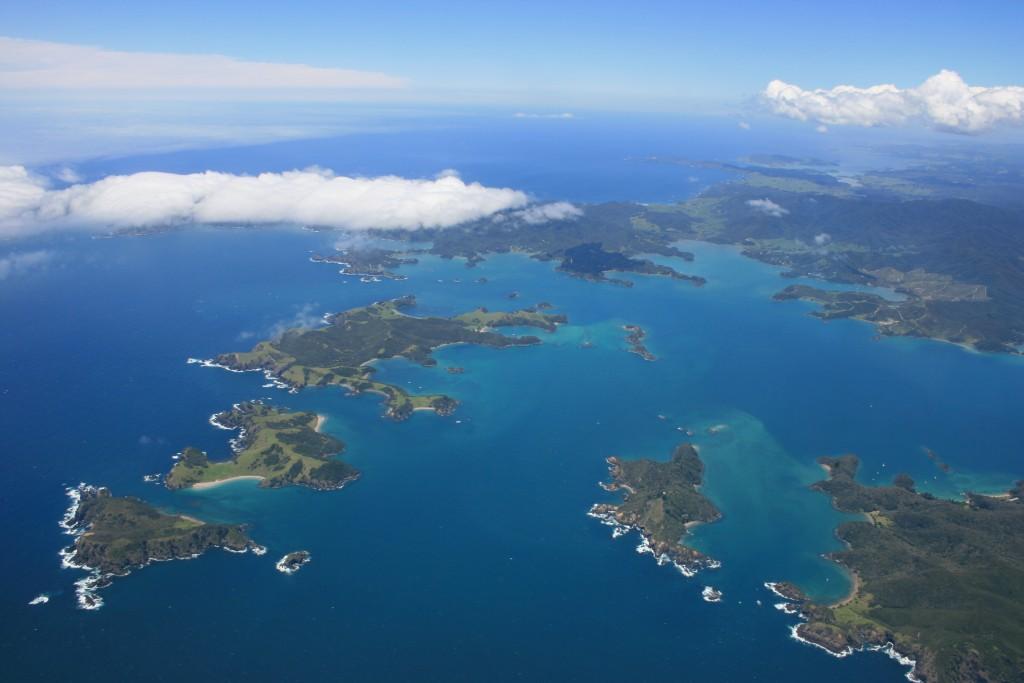 Okahu, Waewaetorea, Motukiekie, Moturua, and Urupukapuka Islands